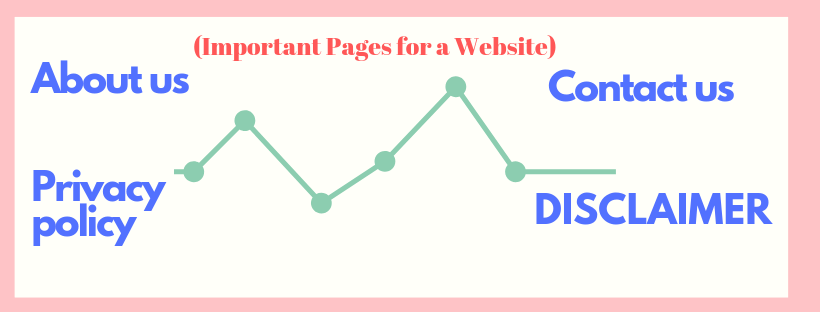 Important pages for a website